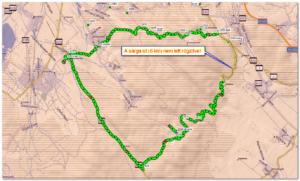 A túra GPS track-je